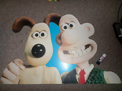 Limited Edition Rare Vintage WALLACE & GROMIT  Giant Cardboard Cut Out