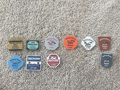 Midway Beach Badge Collection Lot Of 10