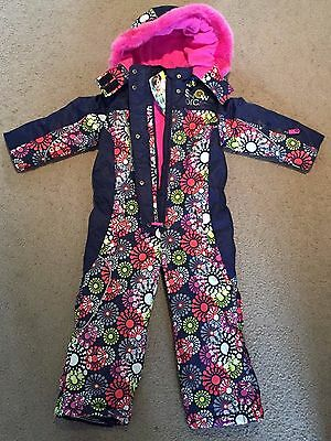 childs toddler snow suit all in one girls ski wear size 3