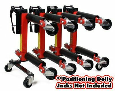"Hydraulic Wheel Dolly Storage Stand for (4) 9"" or 12"" Vehicle Positioning Jacks"