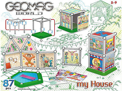 * GEOMAG WORLD * 87pc MY HOUSE Party Time Magnetic Construction Kit  * NEW *