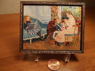 """Melissa Wolcott Miniature Dollhouse PAINTING """"Afternoon of The Children"""" Renior"""