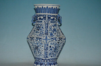 A Large and Rare Chinese Qing qianlong Style Blue and White Temple Jars./1