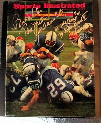 Baltimore Colts Tom Matte Autographed Sports Illustrated 1968 NFL Champs
