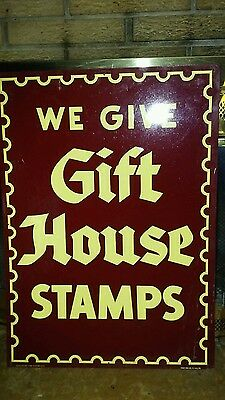 Large Original We Give Gift House Stamps Sign 60S