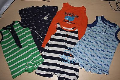 Lot of 5 baby boys shorts rompers 3 month, 0-3 size