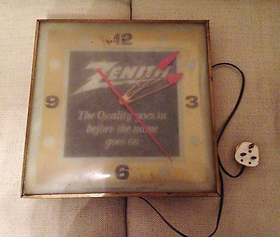 Vintage Zenith Wall Clock Pam Clock Co 1961 Rare