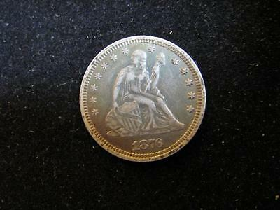 """Love Token On 1876 Seated Liberty Quarter """"T R Z""""  (H77)"""