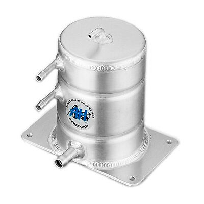 A H Fabrications Alloy Fuel Swirl Pot 1 Litre - JIC -8 Inlet / JIC -6 Outlet