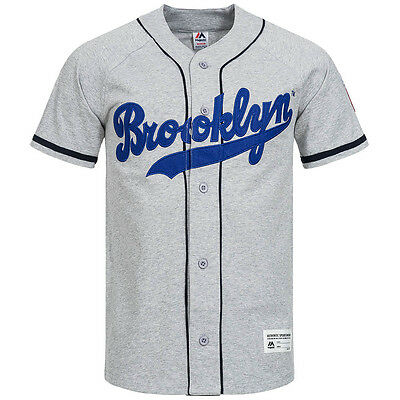 Brooklyn Dodgers Majestic Shirt MLB Leisure Sport Baseball Jersey tricot new