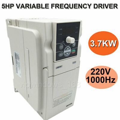 3.7KW 5HP VFD Inverter 1ph 16.5A 220V Variable Frequency Drive CNC Spindle Motor