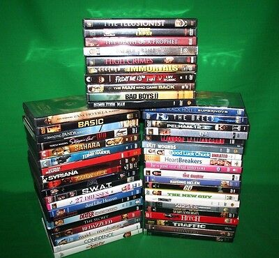 Lot Of 50 DVDS. From my Vault Wide Variety  ALL Very Good To Good