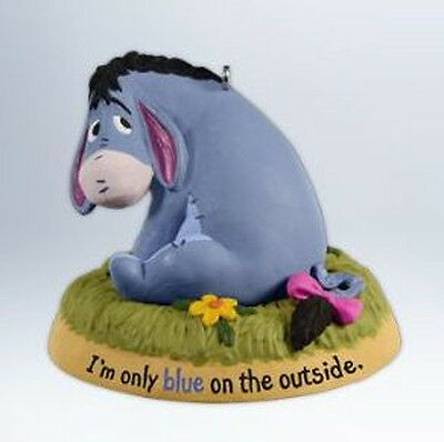 2012 Hallmark ONLY ON THE OUTSIDE Eeyore Ornament Disney Pooh *Priority Ship