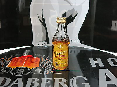 The Famous Bundaberg Rum 50ml Glass UP Round Bottle 37.1% ALC/VOL Rare