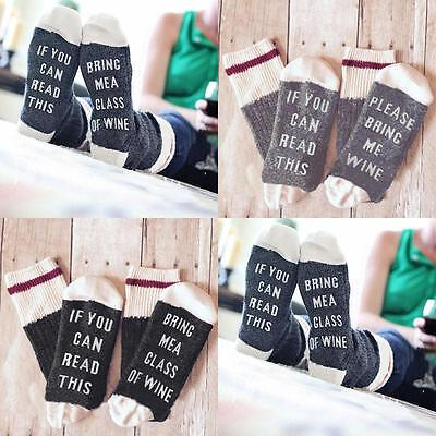 Women Men Unisex Socks If You can read this Bring Me a Glass of Wine Popular