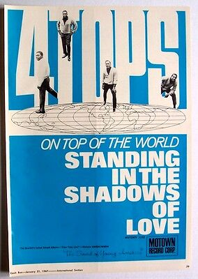 FOUR TOPS 1967 Poster Ad STANDING IN THE SHADOWS OF LOVE motown