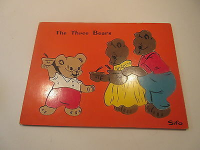 Vintage SIFO Wooden Puzzle THREE BEARS  1016L