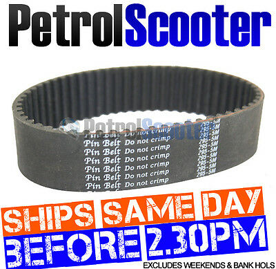 Gas Scooter Drive Belt Pin Belt Htd 295 5m Fits Some Go Karts Buggies