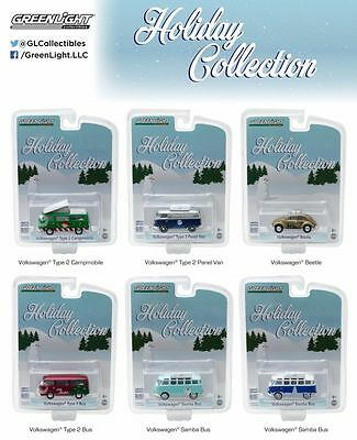 Greenlight Hobby Exclusive VW Volkswagen Holiday Collection Set of 6 PRE-SALE