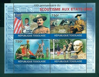 Togo MNH 2010 Baden Powell Scouting 100th Ann $$