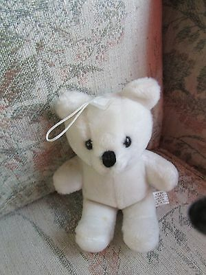 "White Teddy Bear Ornament, approx 51/2"" tall"