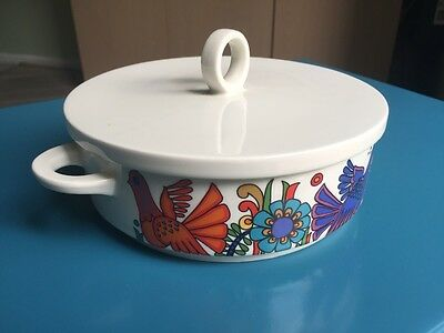ACAPULCO VILLEROY & BOCH 18cm Serving Dish and lid - excellent condition