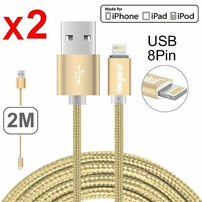 New 2M Apple MFI Certified Lightning Charging Cable For iPhone 5 6 7Plus