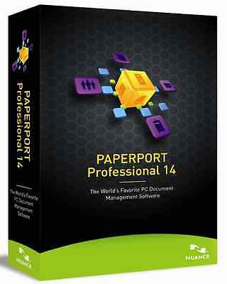 Nuance Paperport Professional 14.0 for PC, NEW RETAIL BOX