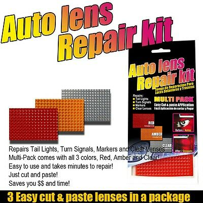 Car Auto Lens Repair Tool Kit 3 Colors Multi-Pack for Tail Lights Turn Universal