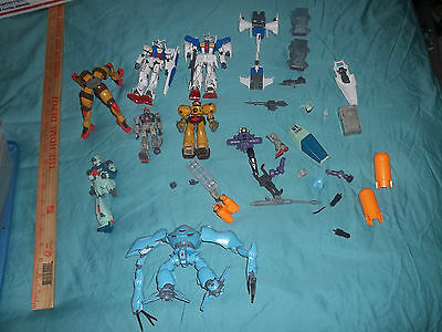 Gundam Wing Lot of Parts and Pieces