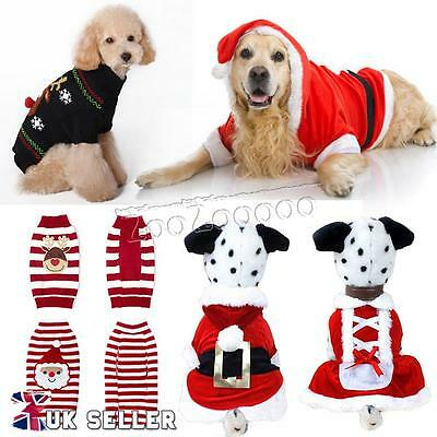 Christmas Dog Warm Clothing Pet Costume Dress Puppy Jumper Sweater Cat Knit Coat
