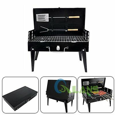 Portable charcoal Folding Barbecue Travel Picnic Outdoor Camping Grill AU STOCK