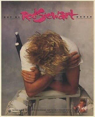 1988 Rod Stewart Out of Order Promo Print Ad