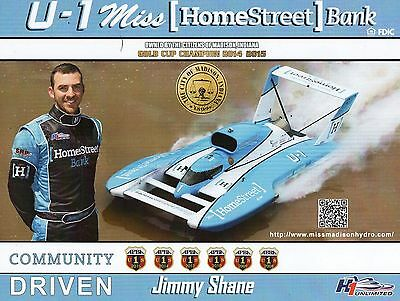 2016 Large Homestreet Bank photo card, unlimited hydroplane