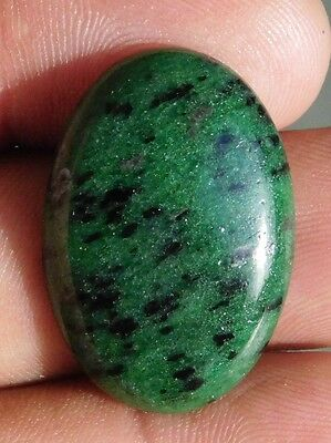 32.45Cts Fantastic 100% Natural Ruby Zoisite 29X20X5 Mm Cabochon Gemstone