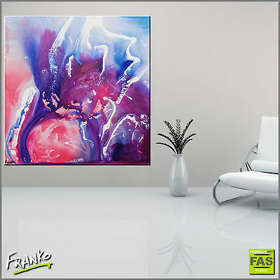 Modern Abstract Painting Fluid Art Pink Purple 120cm x 120cm Franko Australia