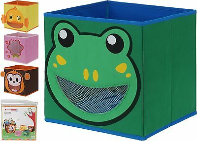 Kids Fabric Storage Boxes Collapsible Childrens Toy Box Room Tidy Organiser