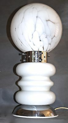 EXTREMELY RARE LARGE 1960s 'GLOBE' TABLE LIGHT-CARLO NASON/MAZZEGA/MURANO