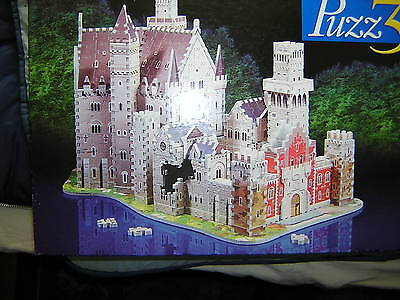 Puzz 3D of  Alpine Castle Complete , Partly Made.