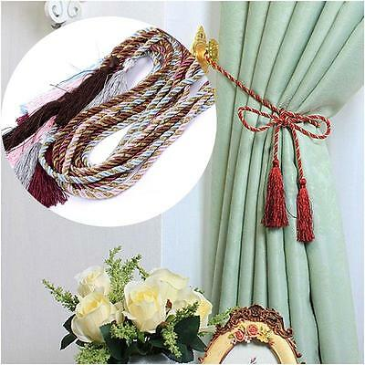 Cotton Rope Tassel Curtain Fringe Tiebacks Tie Backs Room Decor 5 Colors