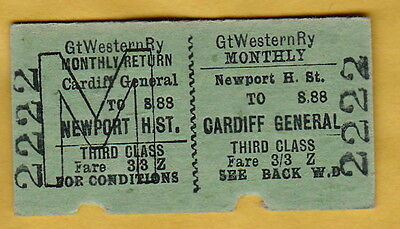 Great Western Railway Ticket - Newport High Street To Cardiff General