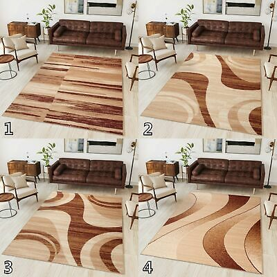 NEW BEAUTIFUL MODERN RUGS TOP DESIGN LIVING ROOM ! Different Sizes ! BEIGE