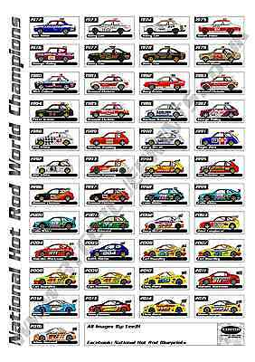 National Hot Rod world champions A3 Poster NHRPA oval racing