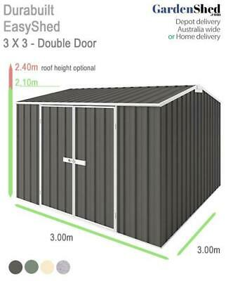 EasyShed 3.00m x 3.00m Garden Sheds - FREE Anchor & Skylight (Sep only)