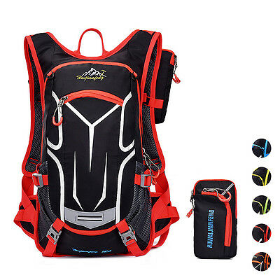 Outdoor Sport Shoulder Backpack Lightweight Hydration Water Bag w/Rain Cover 18L