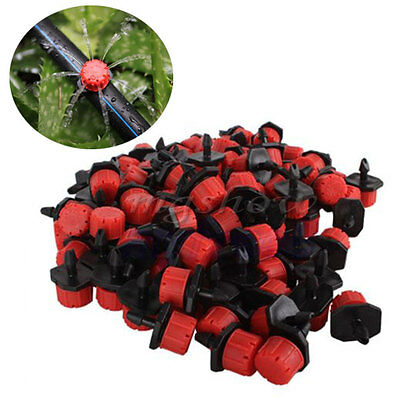 100Pcs Adjustable Micro Drip Irrigation Watering Emitter Drippers Sprinklers pot