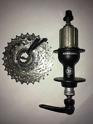 Ambrosio Zenith rear hub and Shimano 10-speed cassette