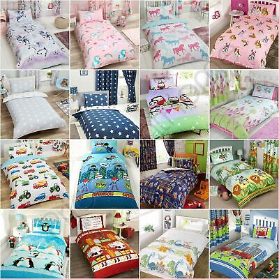 Junior Duvet Cover Sets Toddler Bedding Dinosaur Christmas Cars Animals Unicorn