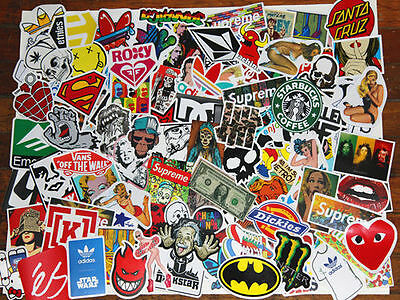 50 stickers art decal vinyl guitar laptop ipad skateboard snow surf fridge bmx
