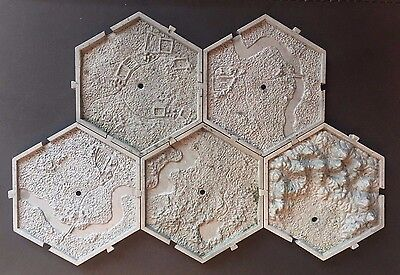 Warhammer Fantasy 40K Games Workshop Mighty Empires Campaign Tiles x 5 OOP #7